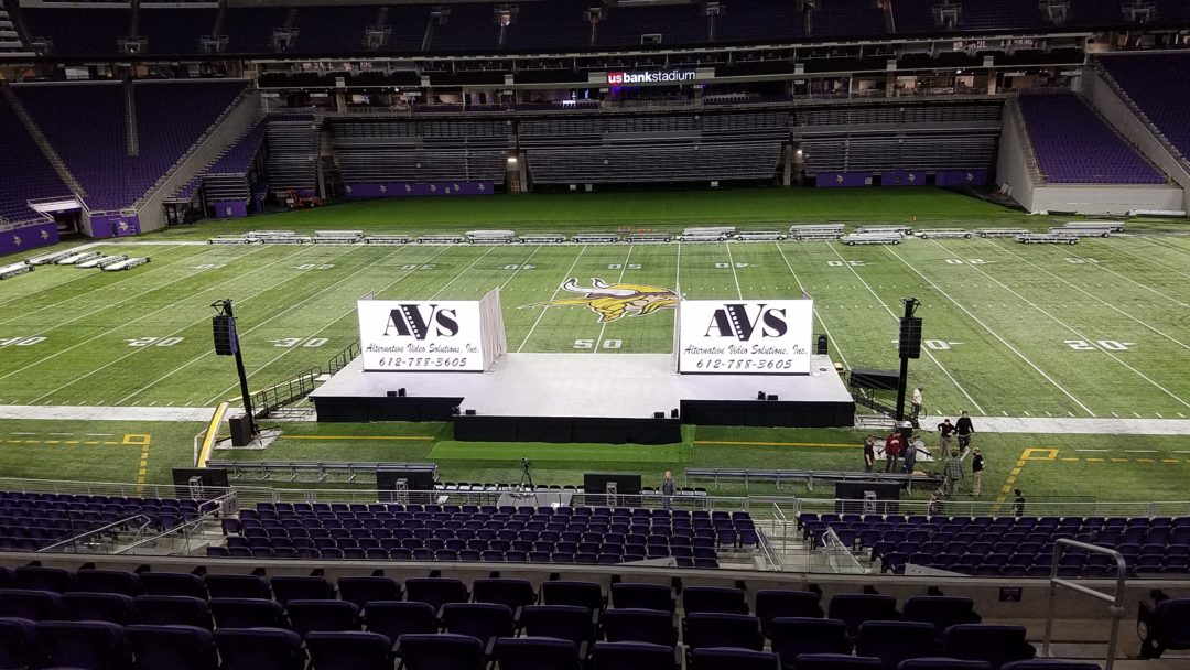 US Bank Stadium Unilumin 2.6mm LED Ground Supported