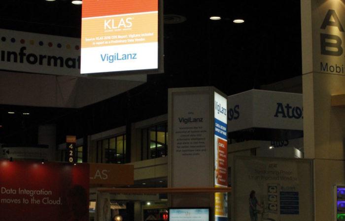 VigiLanz HIMMS Show Unilumin 2.6mm LED Hanging