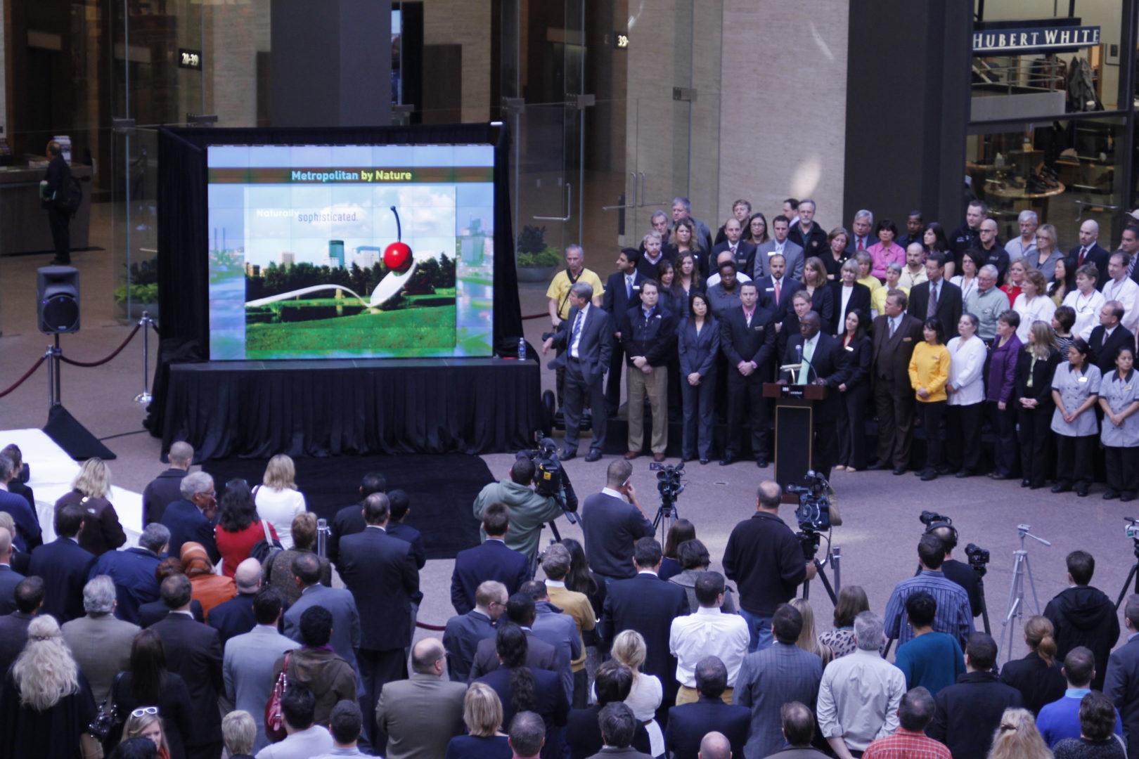 Meet Minneapolis Brand Launch Christie Digital MicroTiles